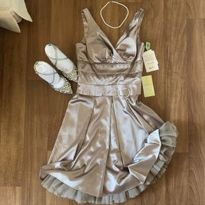 OC by Oleg Cassini Gorgeous Taupe Cocktail Dress